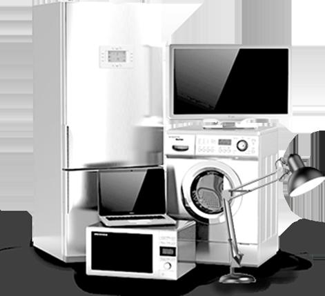 Ansammlung von Elektrogeräten/Altgeräten